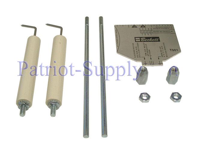 Oem beckett 5780 beckett electrode kit for burner models for Beckett tech support
